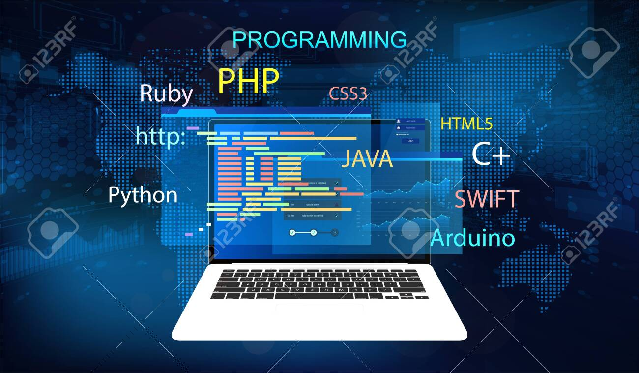 Programming Concept Banner Software Web Development Programming Royalty Free Cliparts Vectors And Stock Illustration Image 128187395