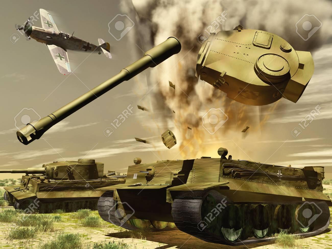 scene of the blast of the tank Stock Photo - 6746328