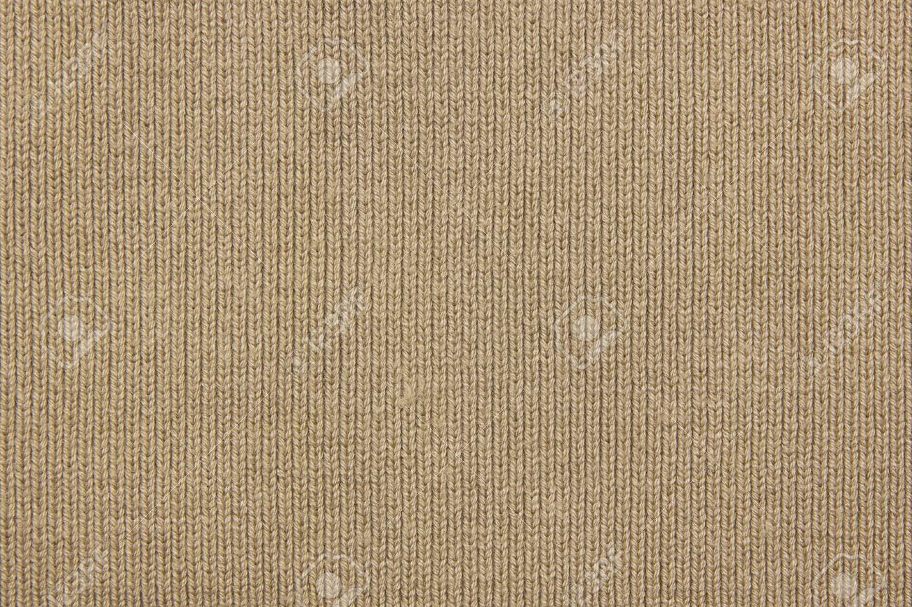 Beige knitted texture for background - 126956987