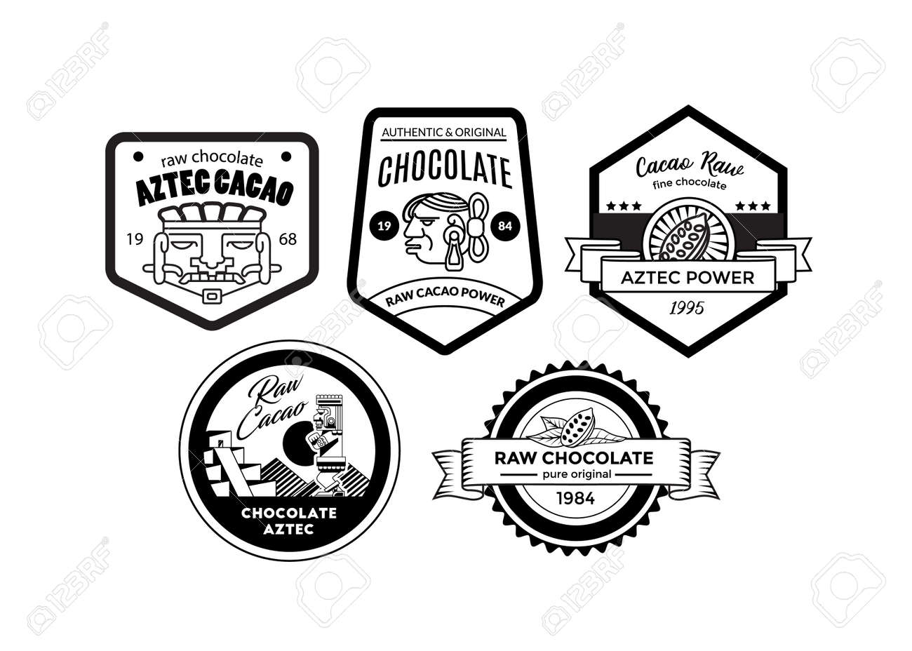 Aztec symbol for power the meaning of this aztec symbol was vector illustration aztec logo collection for chocolate package biocorpaavc Image collections