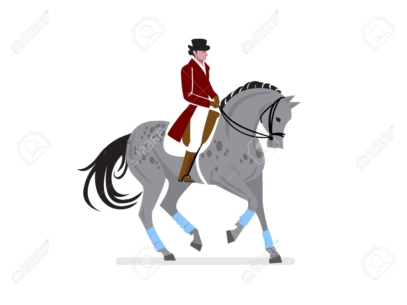 Horse Ride Competition Poster Design Vector Illustration Royalty Free Cliparts Vectors And Stock Illustration Image 100998240
