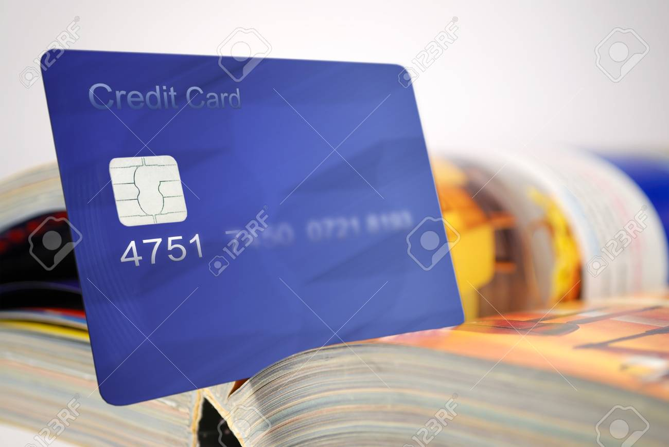 credit card and catalog for shopping Stock Photo - 11791831