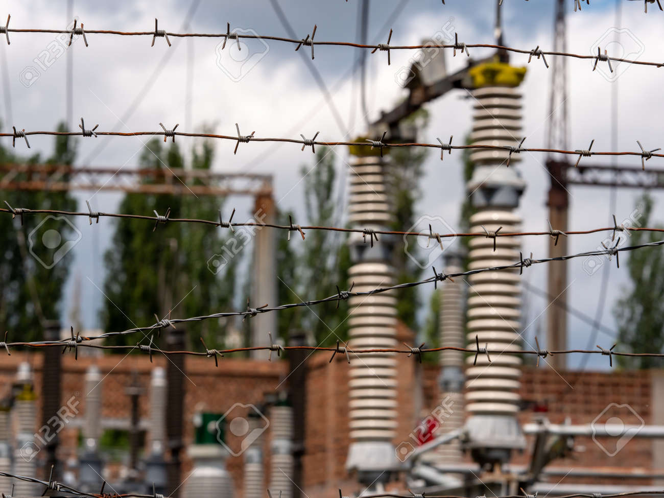 Transformer station near the power station. - 149743455