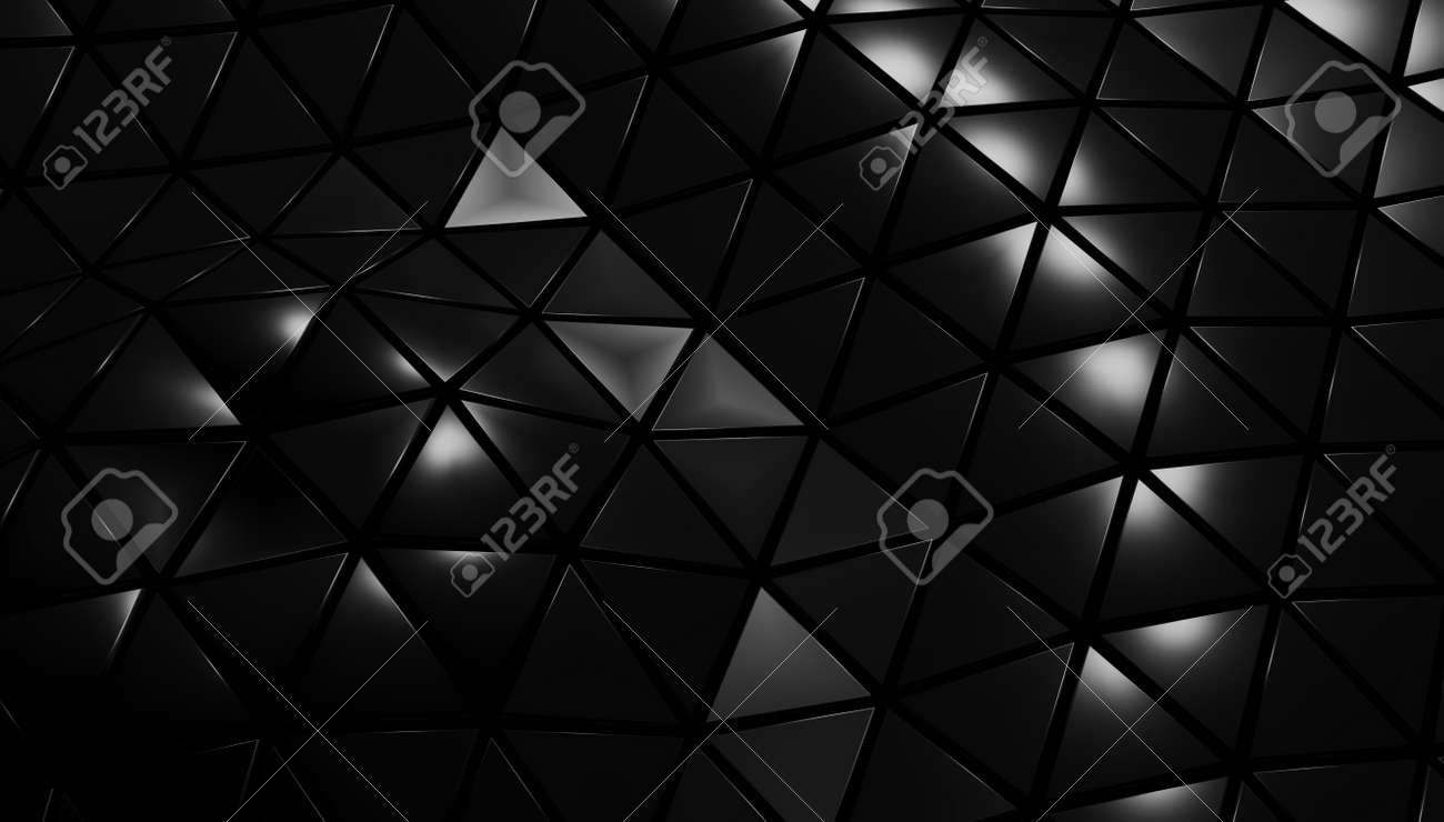 3D render wave texture from triangles moves and shimmers. - 150333558