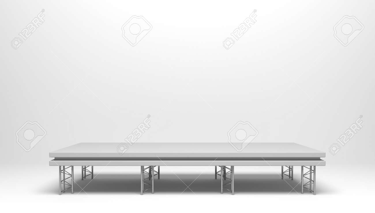 3d render concept podium, stage for artists to perform outdoors. - 150242300