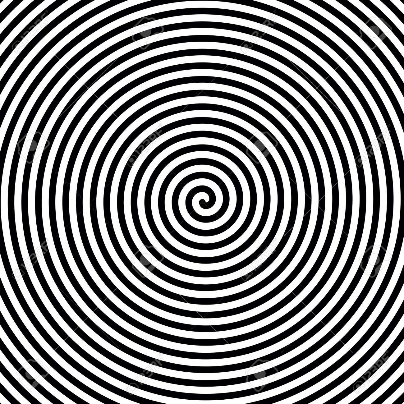 Black And White Hypnosis Spiral. Vector Background Royalty Free ...