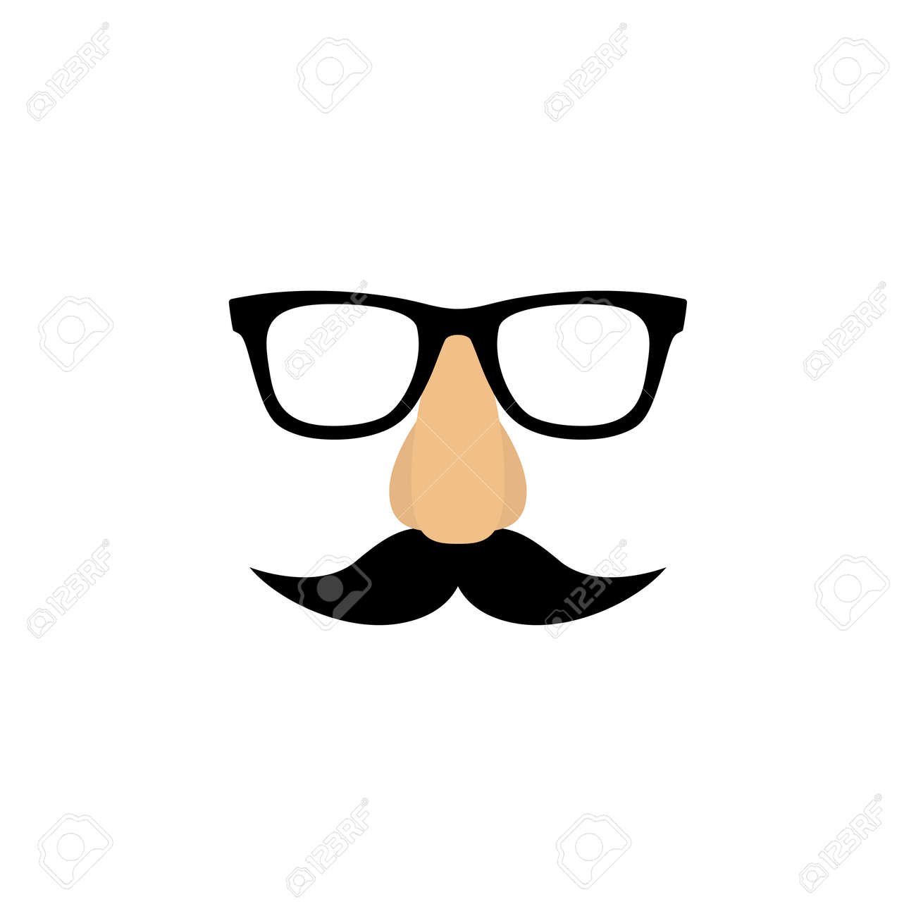 5bed4d79c3f Mask With Glasses Fake Nose And Mustache. Royalty Free Cliparts ...