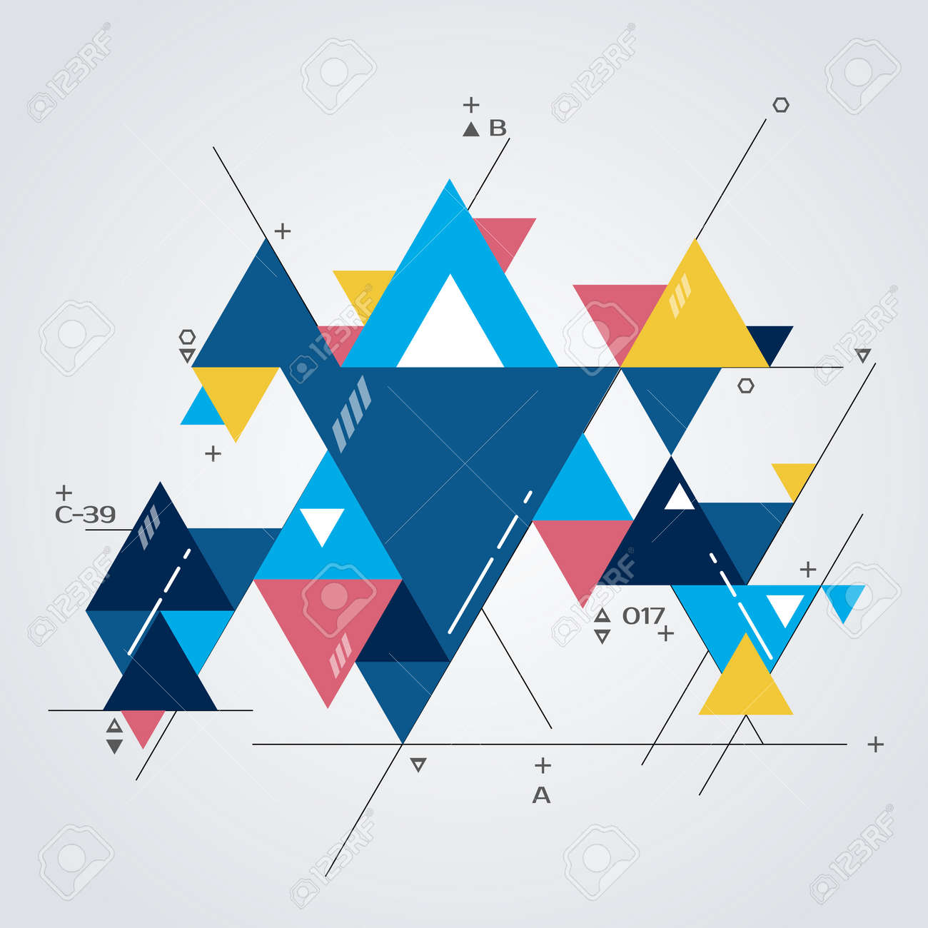 Abstract Modern Background With Geometric Shapes Vector Illustration