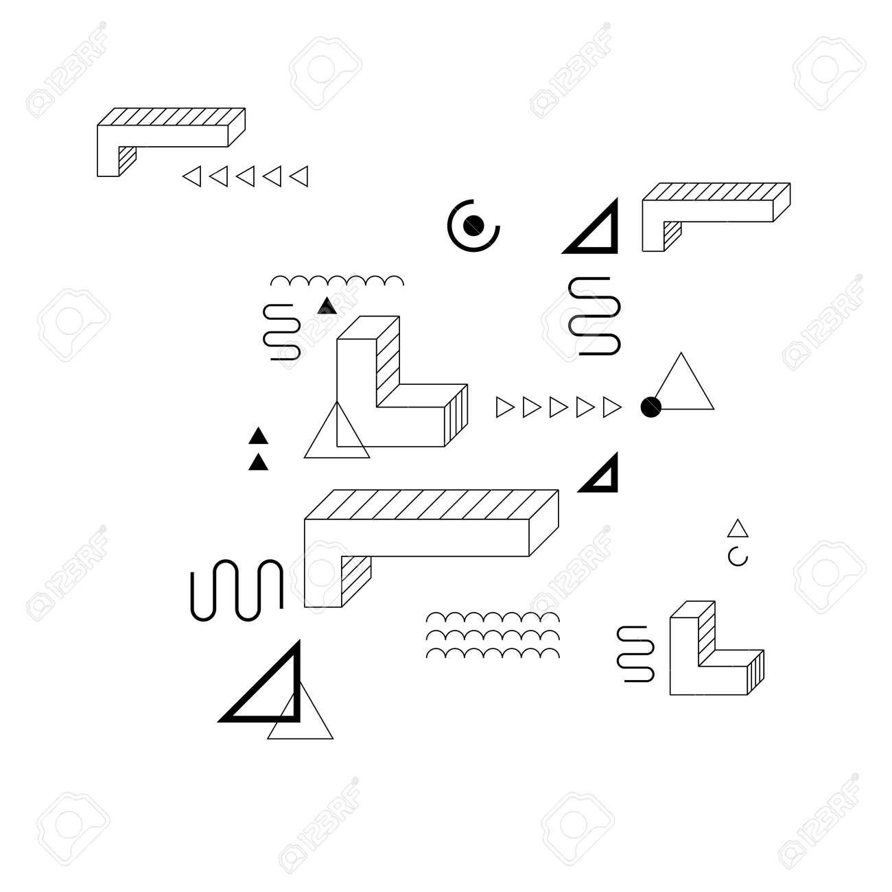 Retro 80's memphis seamless pattern  Abstract geometric vector