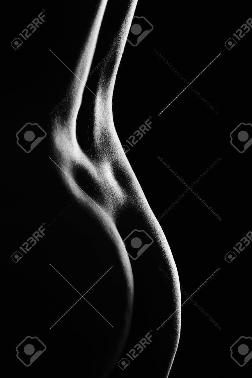 female back on black background Stock Photo - 5405145