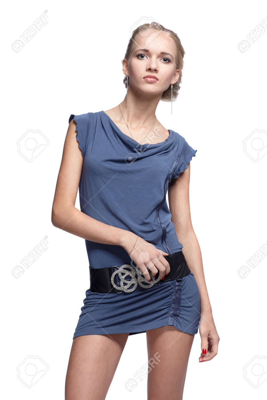 portrait of beautiful blonde blue-eyed girl Stock Photo - 6090782