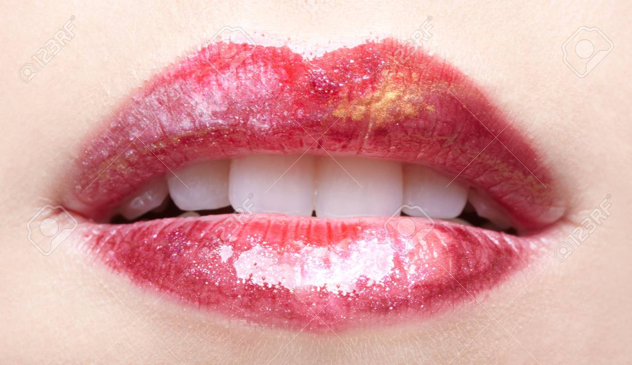 close-up of girl's lips Stock Photo - 6229571