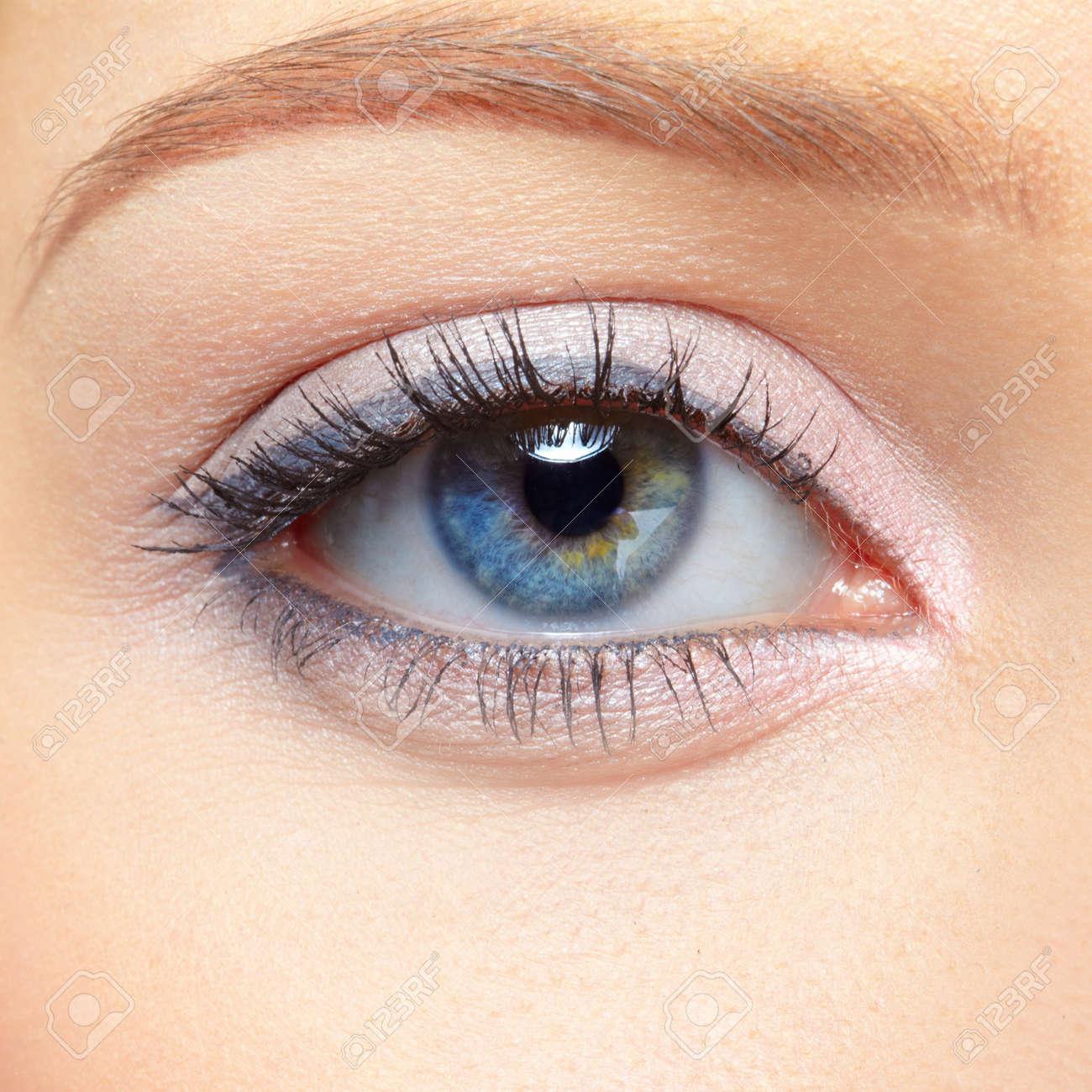 closeup eye-zone portrait of beautiful blonde girl Stock Photo - 7104893