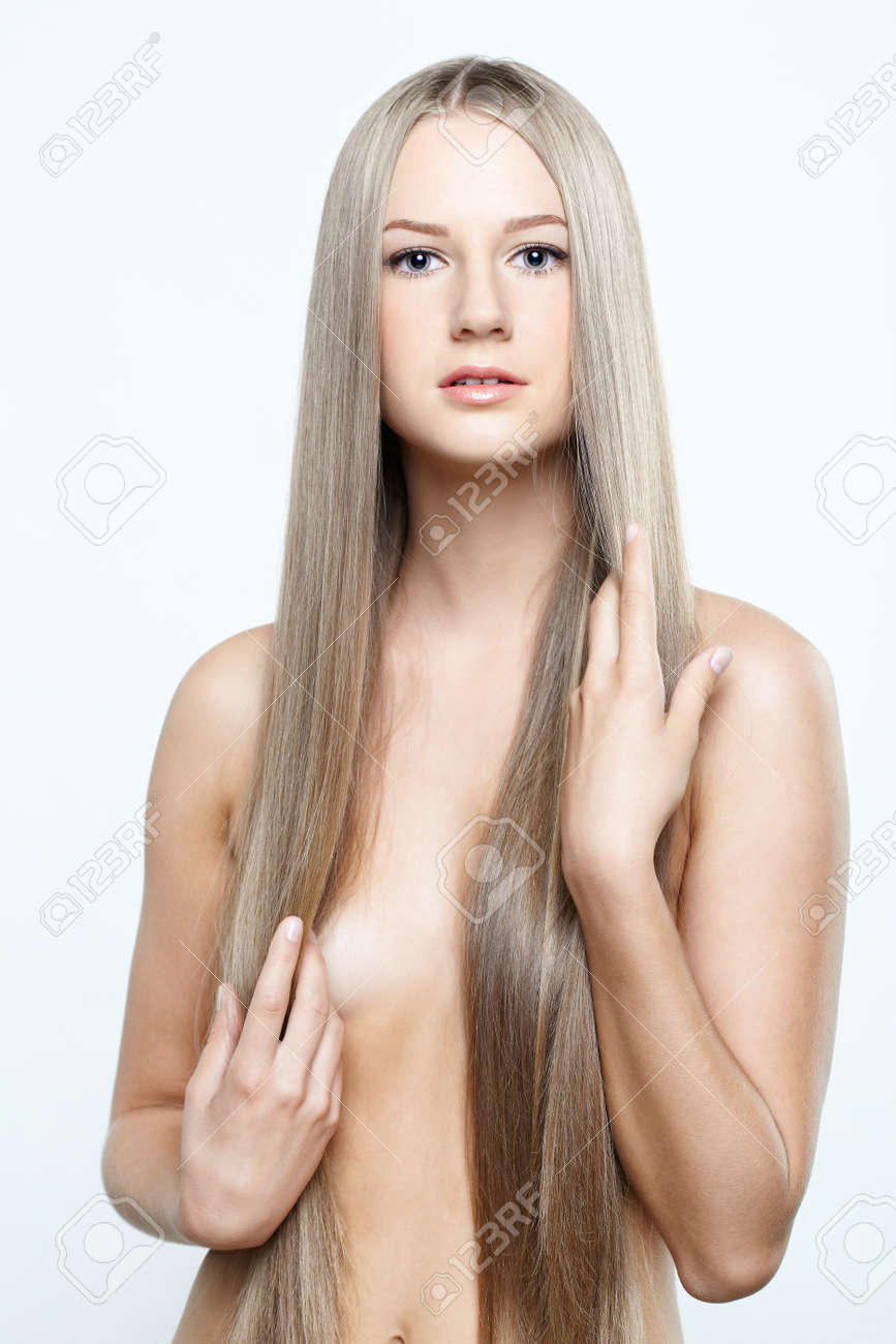 Young beautiful woman with long blond hairs Stock Photo - 15719231