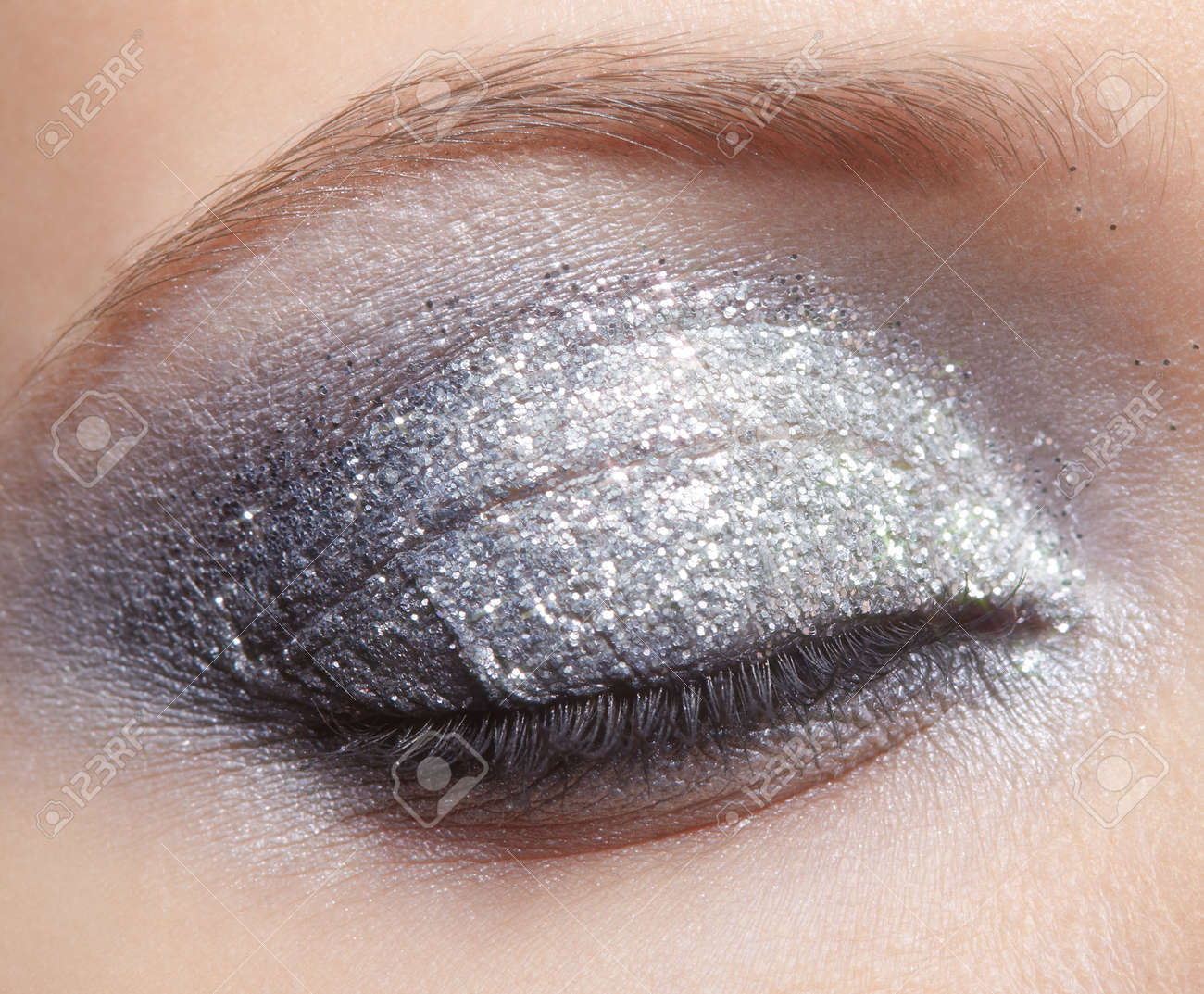 Image result for sparkle makeup stock photo