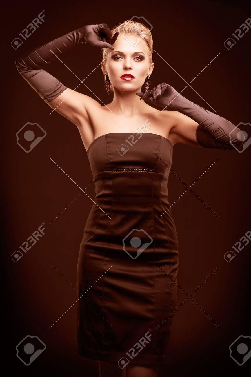 Black dress gloves - Ladies Long Black Dress Gloves