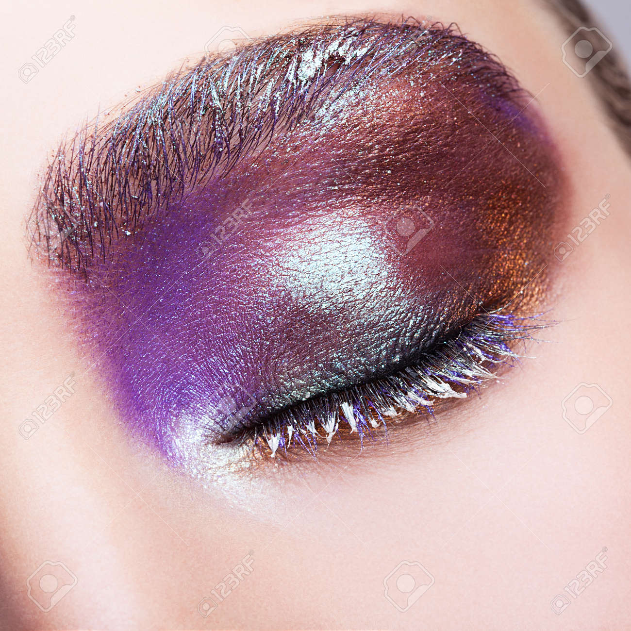 Makeup eye purple close up photo advise dress for winter in 2019