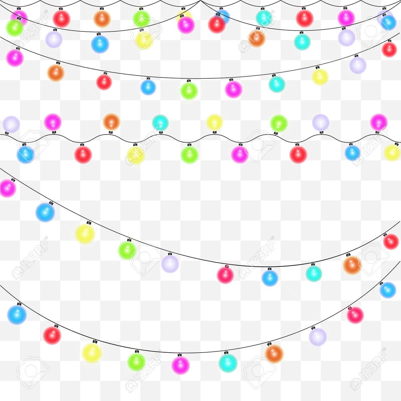 Christmas Lights Transparent Background.Christmas Lights On A Beautiful Transparent Background Seth