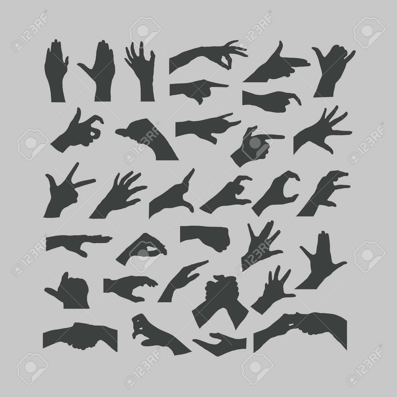 Hands icons Stock Vector - 20960993