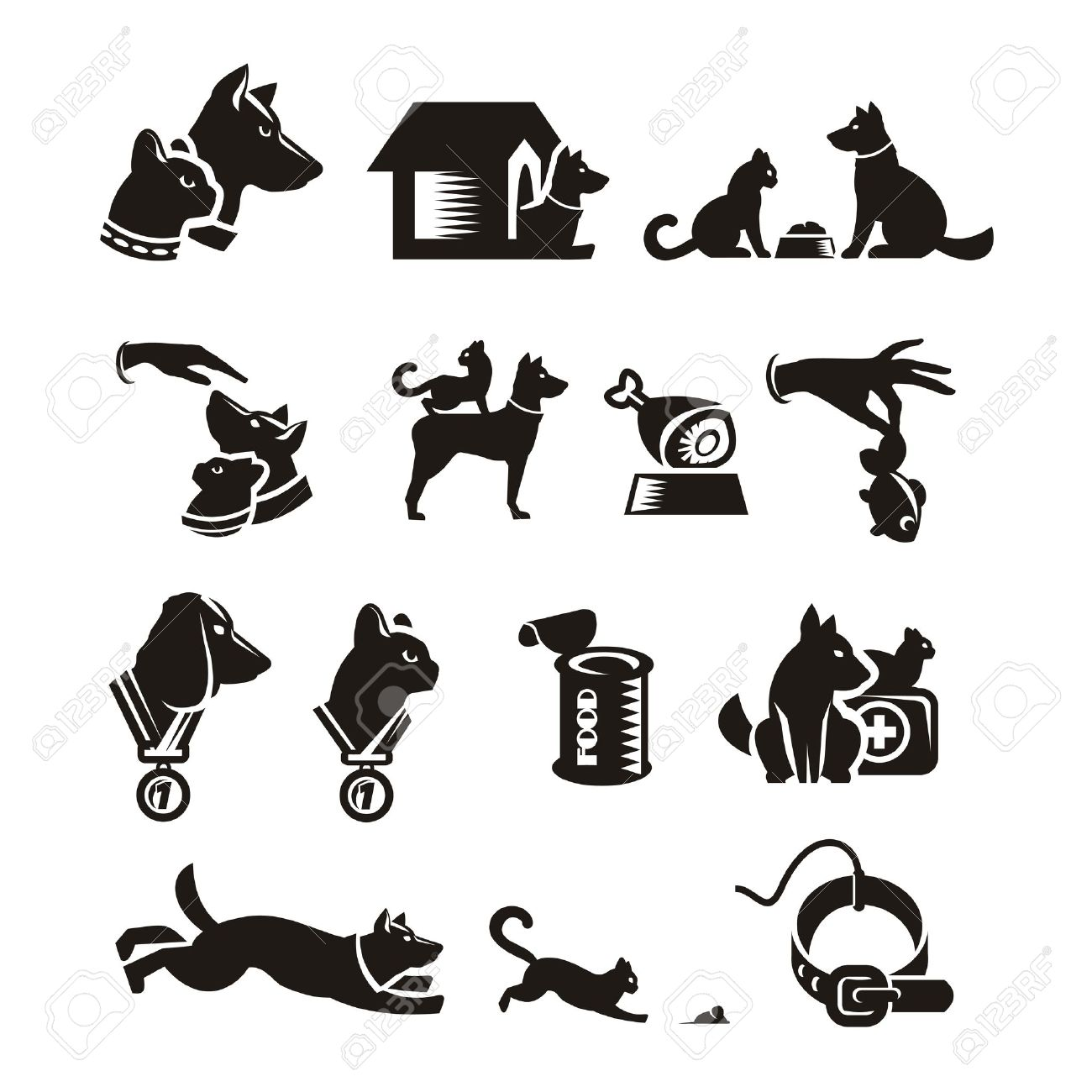 23,460 Dog And Cat Cliparts, Stock Vector And Royalty Free Dog And ...