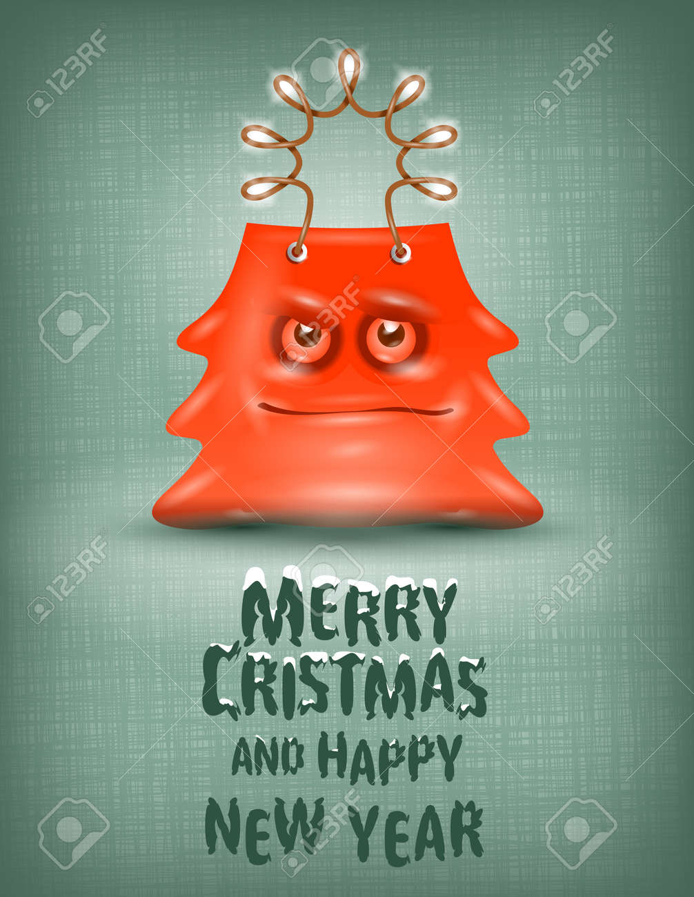 Shopping bag  Merry Christmas and happy New Year Stock Vector - 22509935