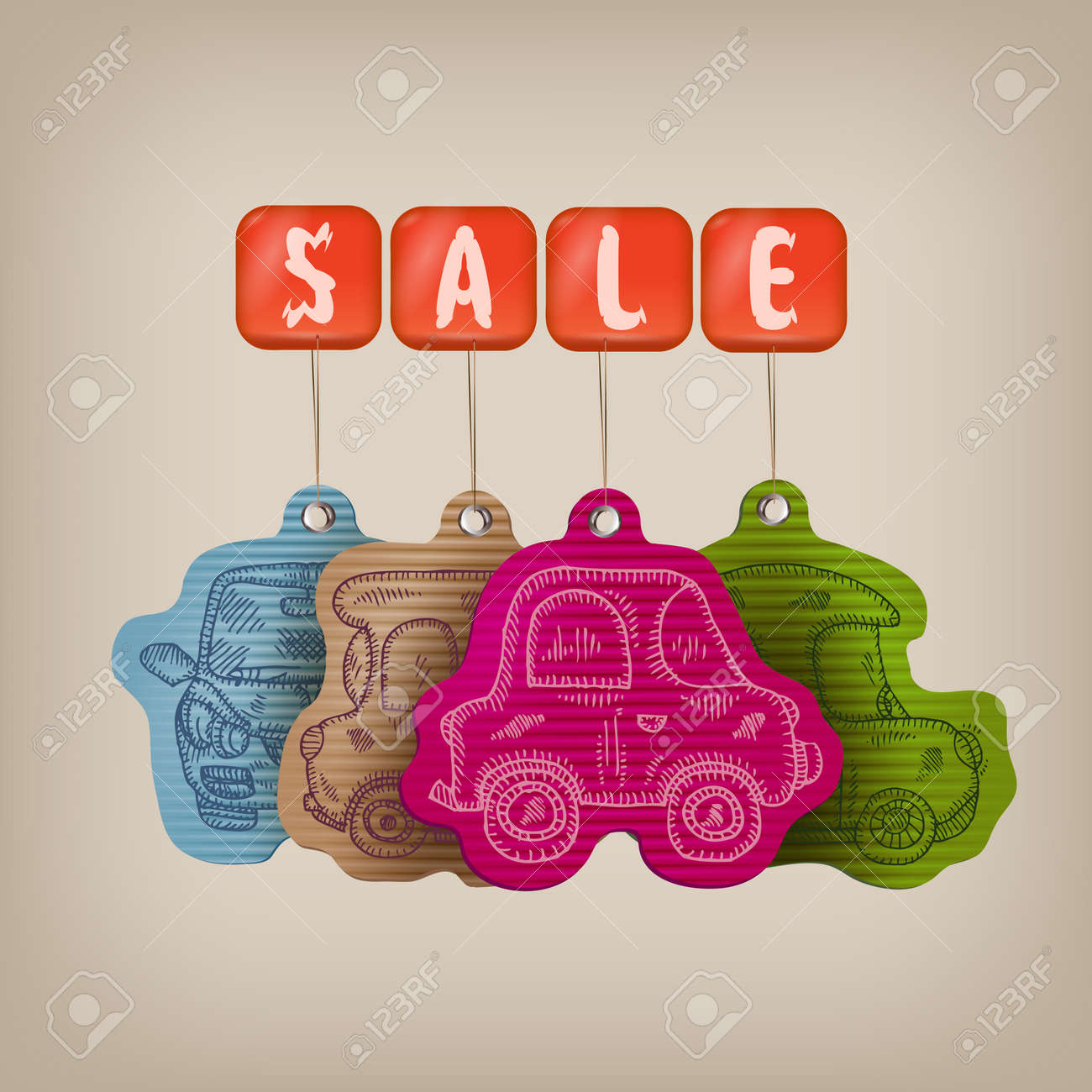 Car sale illustration Stock Vector - 22734286