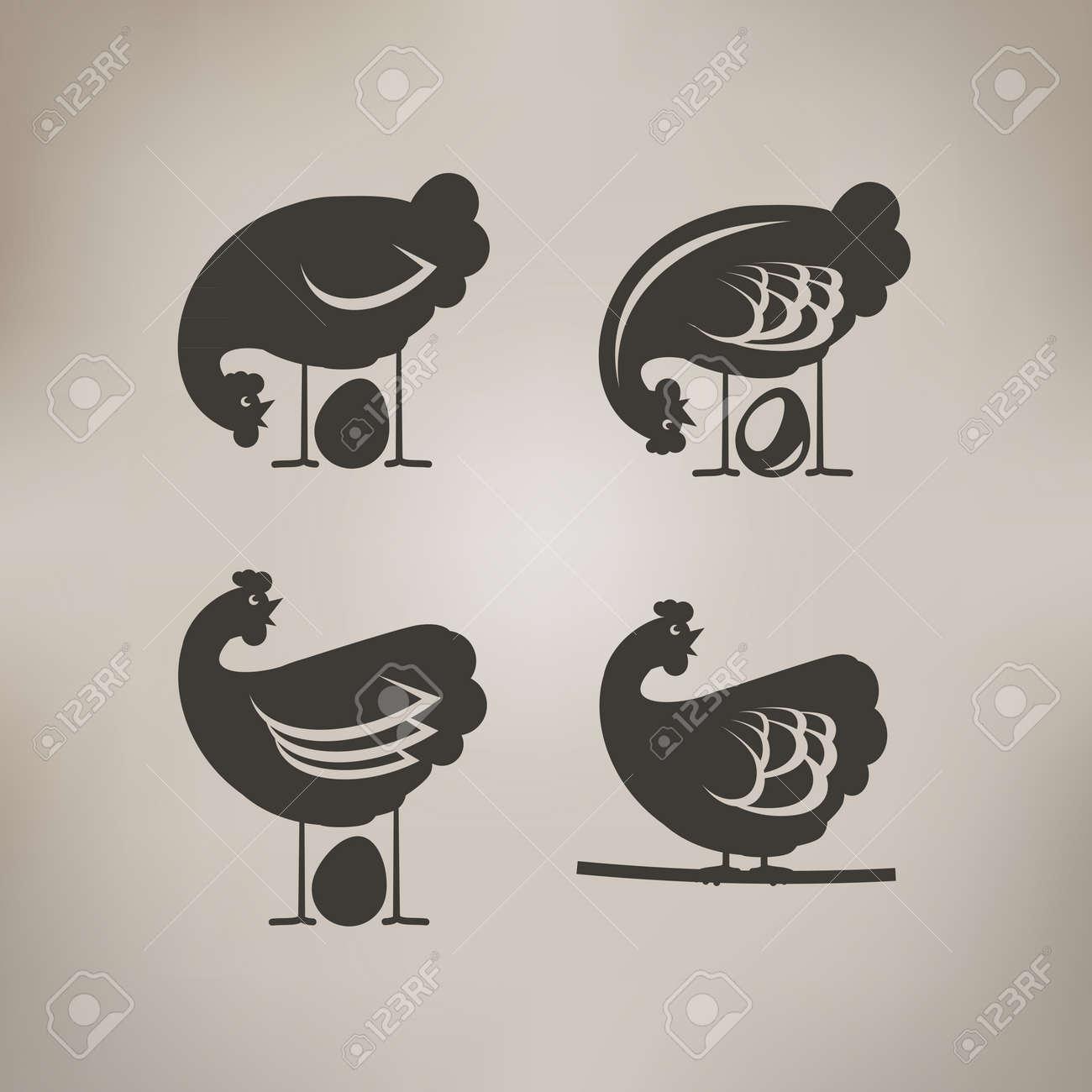 Egg Vector Logo Chicken And Egg Logo