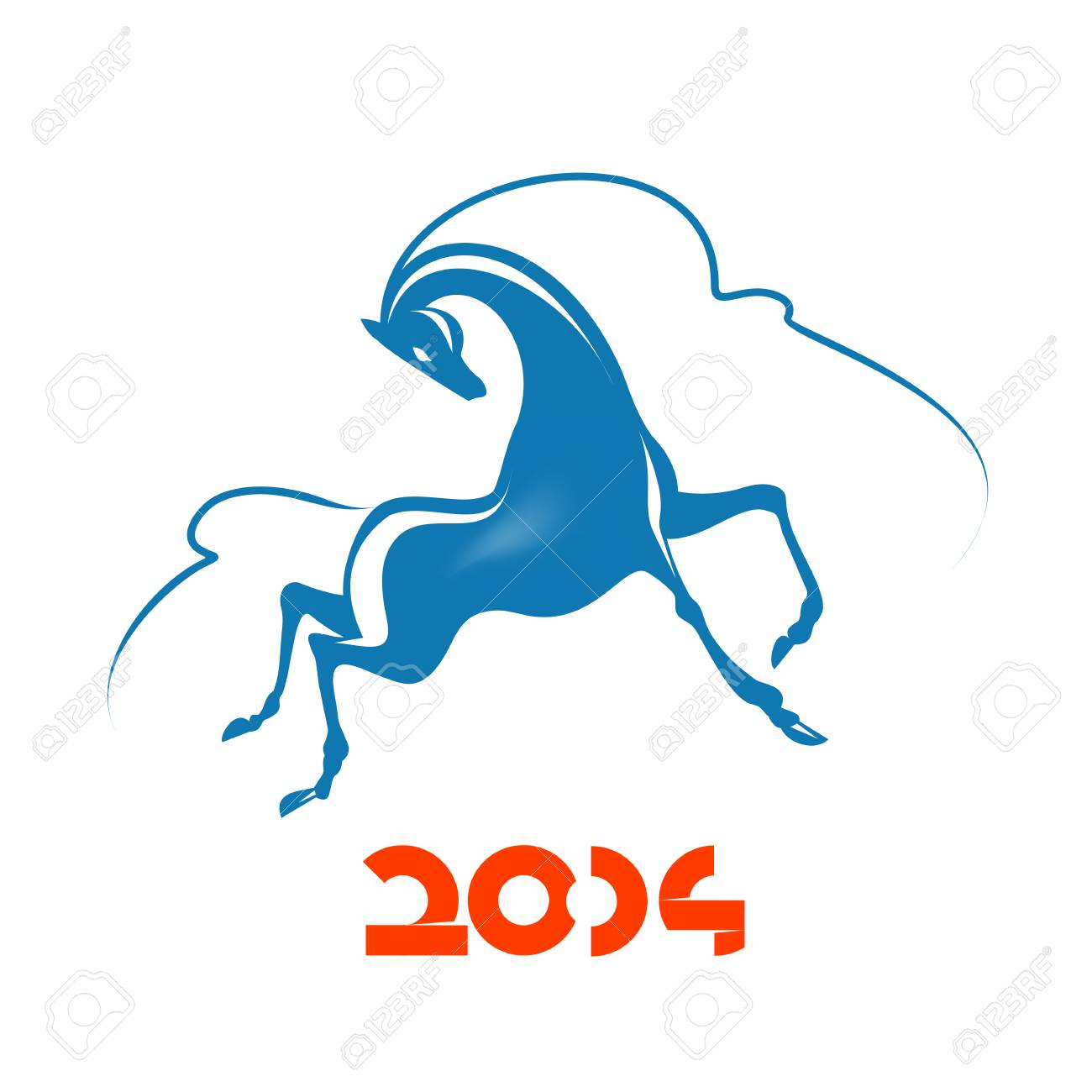 Year of the horse Stock Vector - 23042286