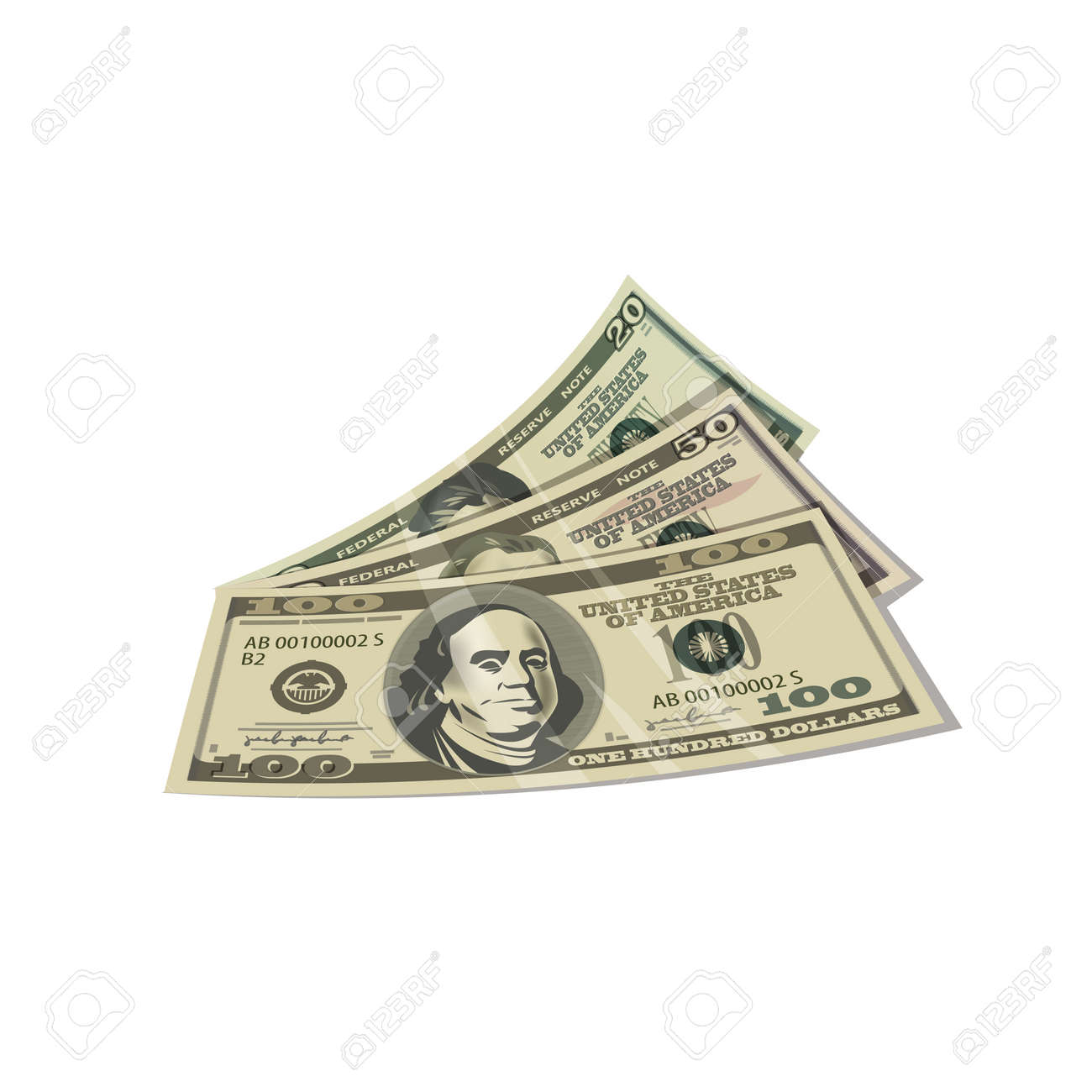 Dollars  Vector format Stock Vector - 24752884