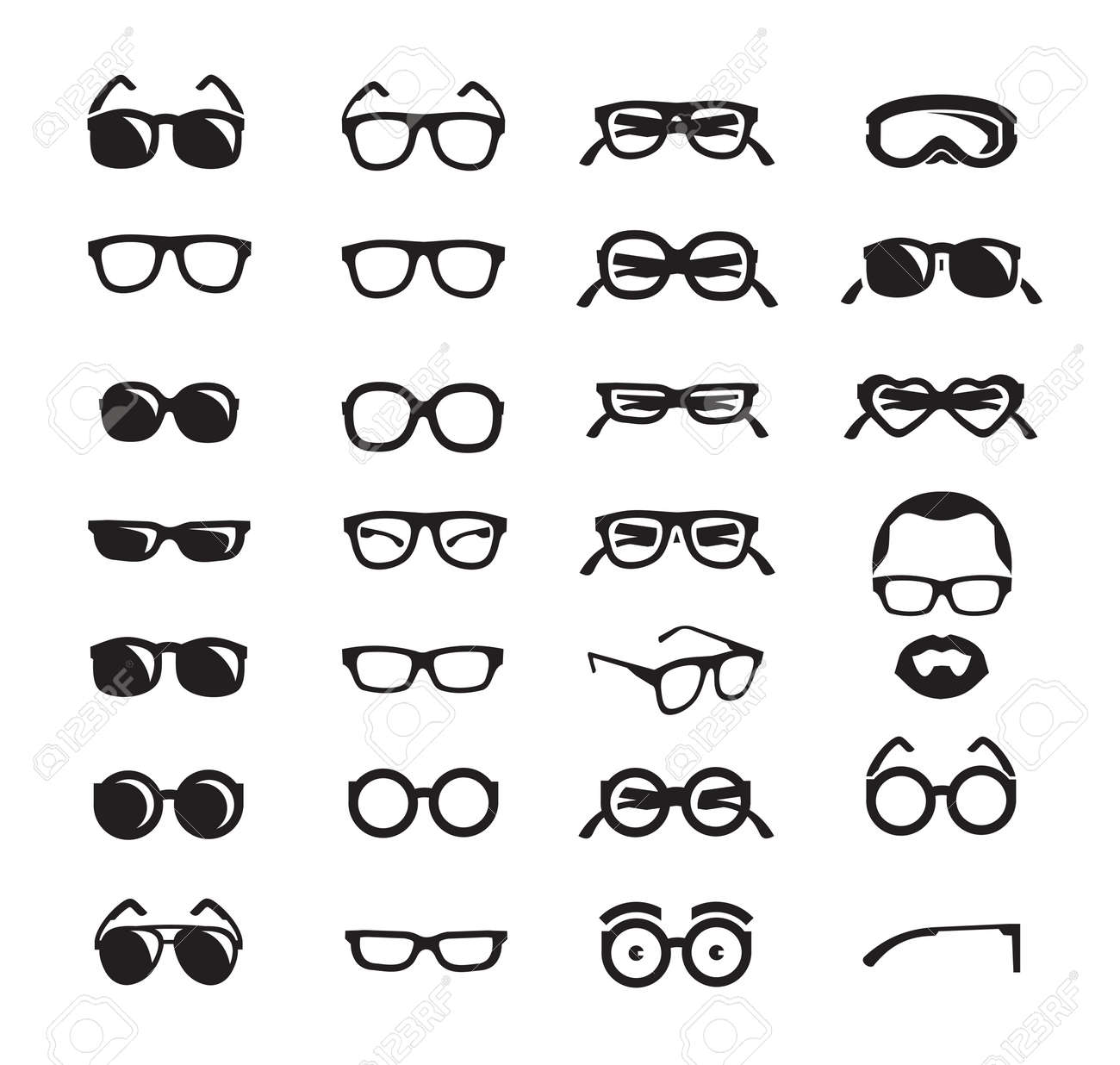 Glasses icons Vector format - 25859083
