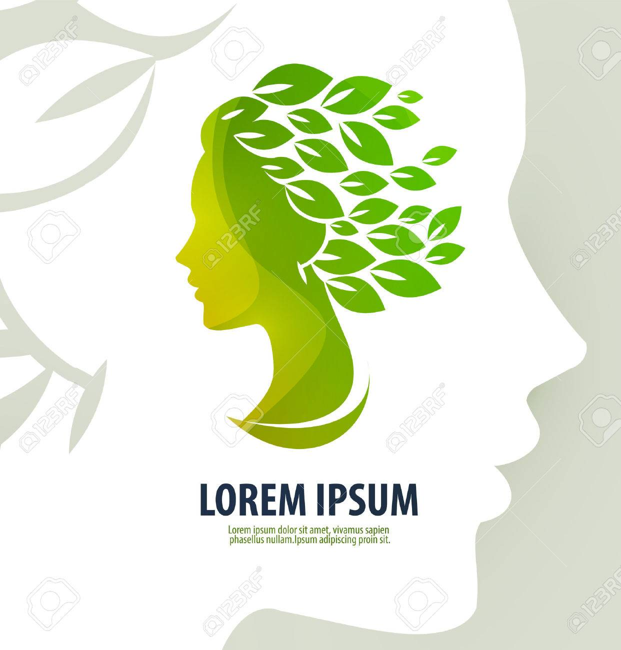 Silhouette of the head of a young girl on a white background. vector illustration - 35261685