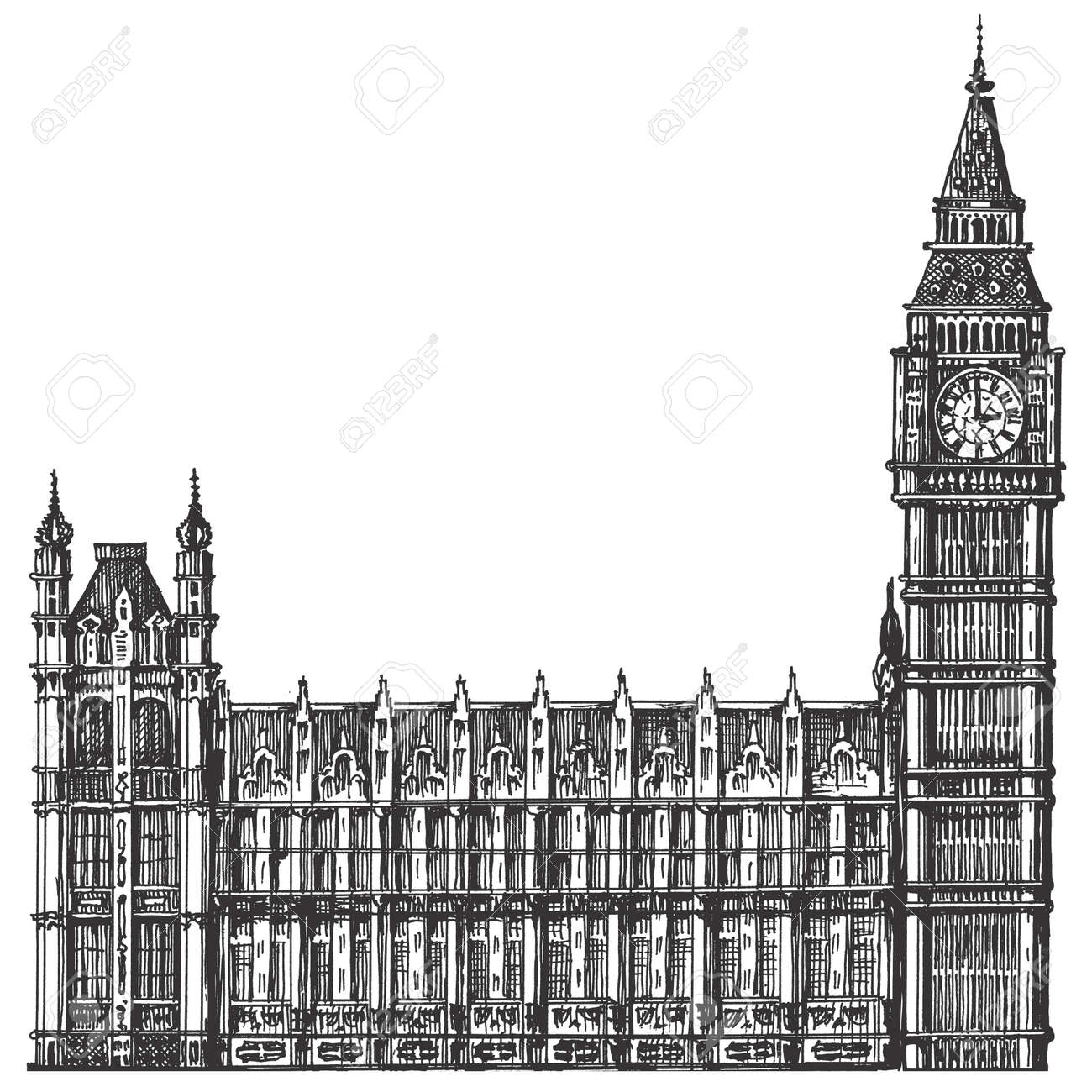 3,014 City Big Ben Stock Vector Illustration And Royalty Free City ...