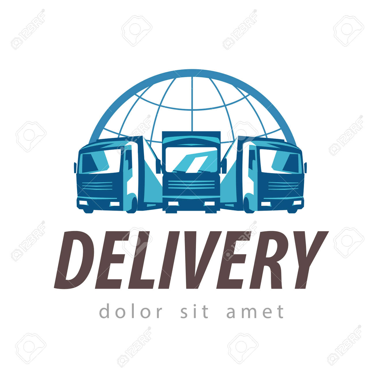 delivery. truck on a white background. vector illustration Stock Vector - 45945662