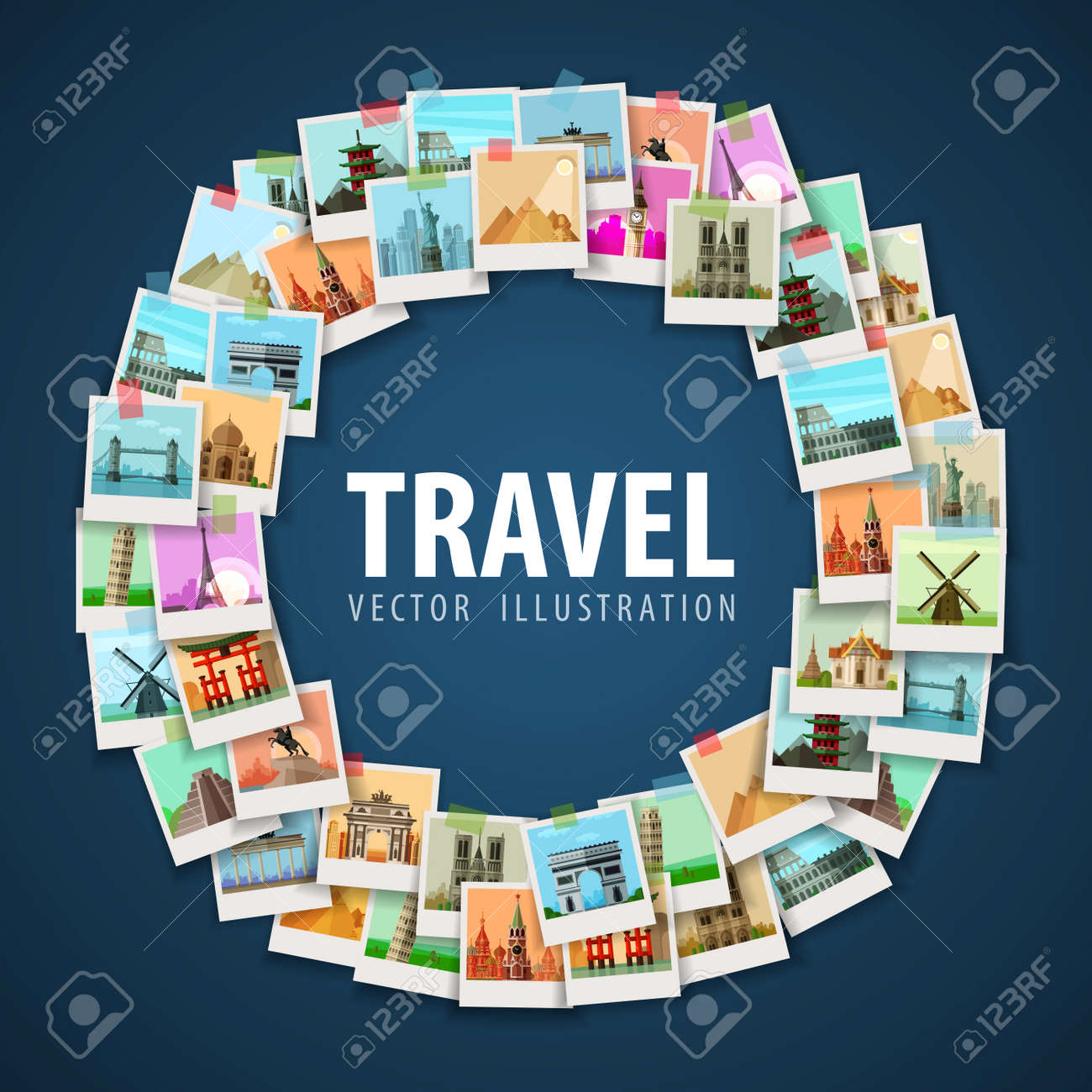 round trip on a light background. vector illustration - 45726124