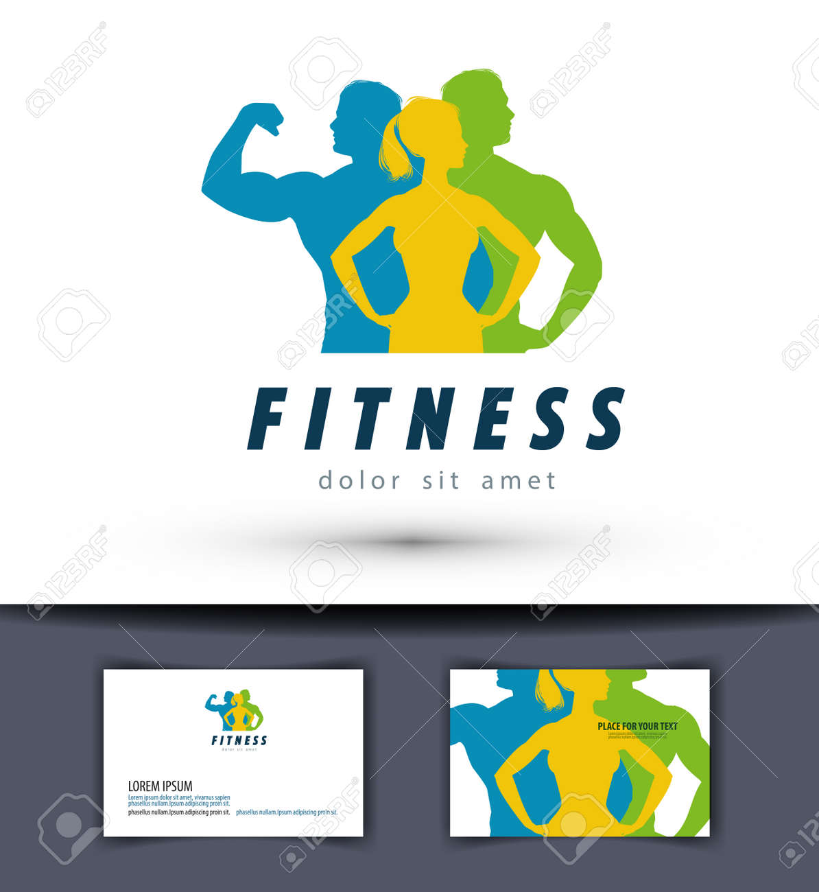 fitness and sports on a white background. vector illustration Stock Vector - 46612057