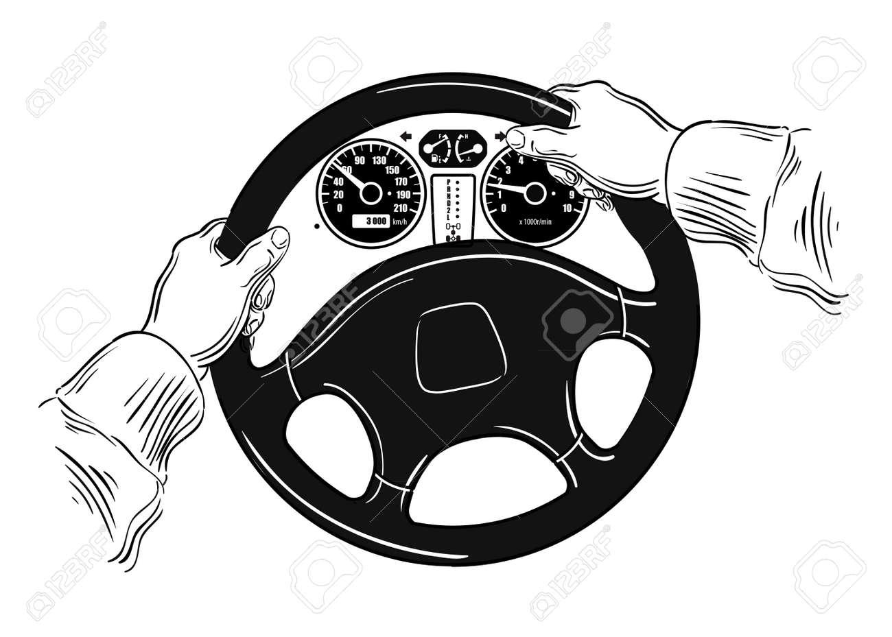 hand drawn car wheel. sketch. vector illustration - 50079284