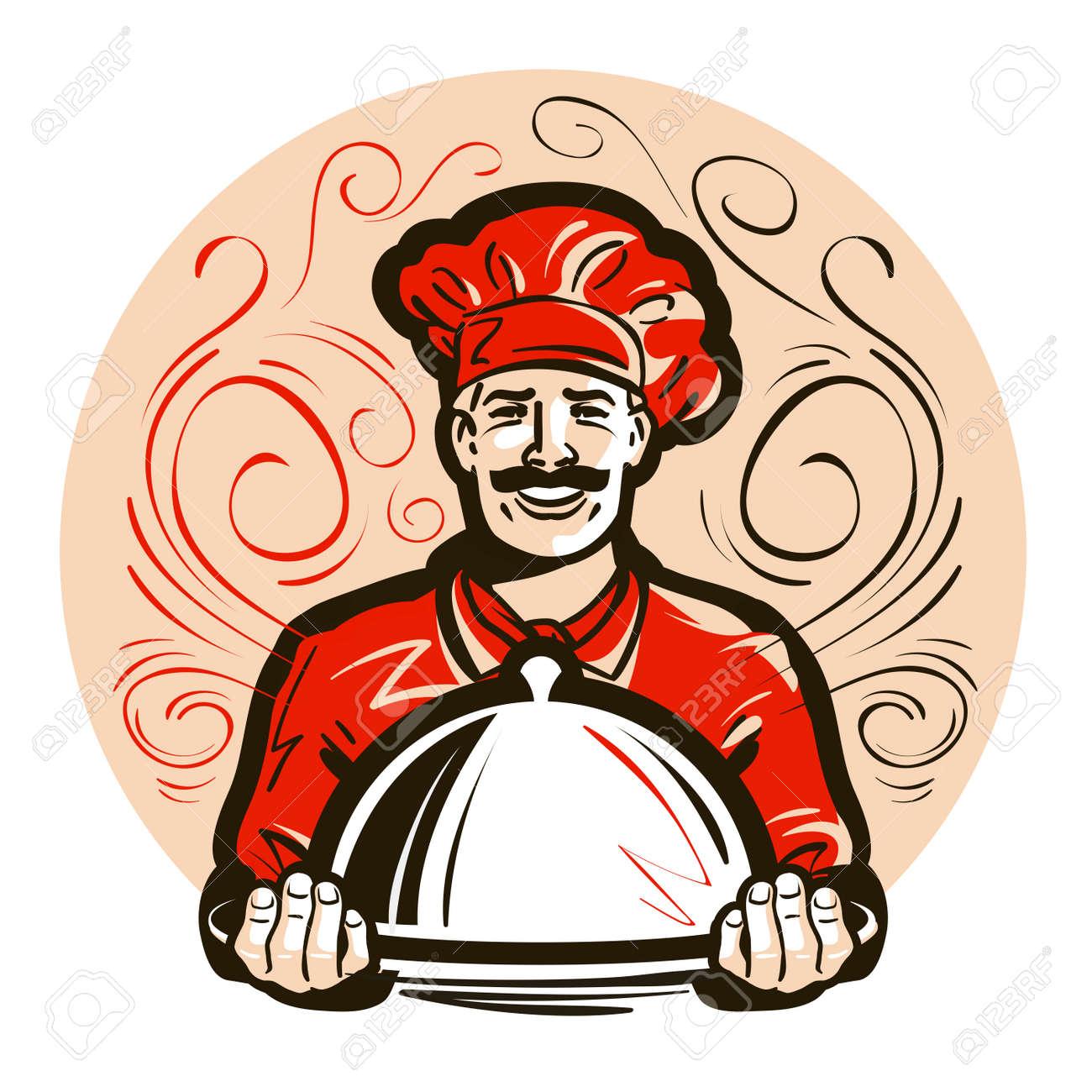 restaurant, cafe vector logo. menu, dish, food or chef icon - 55349018