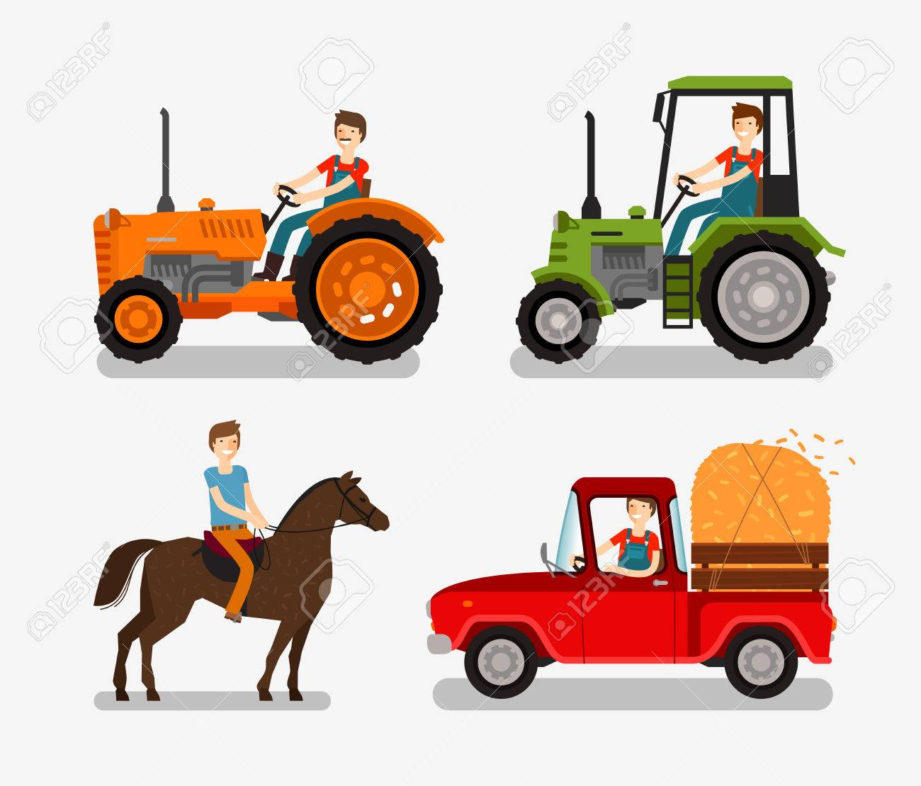 Iconos De Granja Símbolo De Dibujos Animados Tales Como Tractores Camiones Caballo Granjero Ilustración Vectorial Ilustraciones Vectoriales Clip Art Vectorizado Libre De Derechos Image 61268382