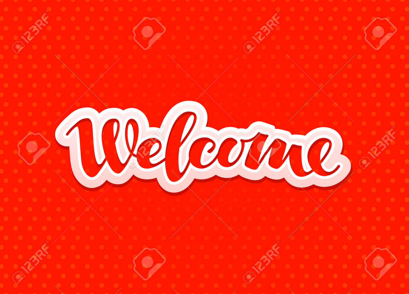 Welcome lettering design greeting card banner vector welcome lettering design greeting card banner vector illustration stock vector 63810727 kristyandbryce Choice Image