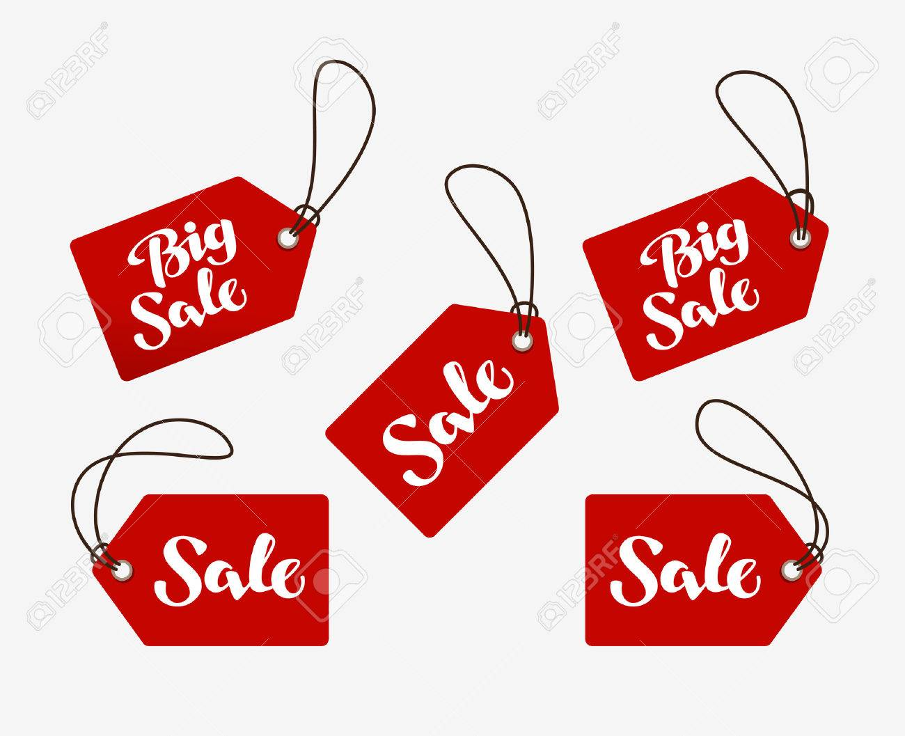 Red tag with the words sale. - 63811539