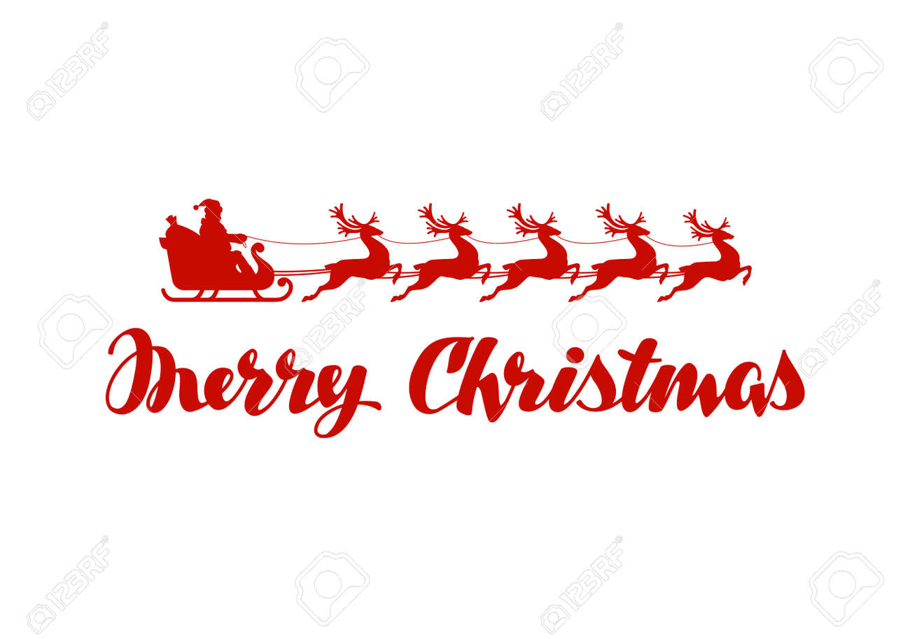 illustration merry christmas banner vector illustration isolated on white background