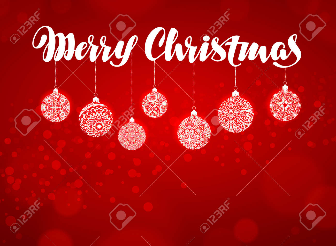 Merry Christmas Banner Xmas Decoration Vector Illustration On Royalty Free Cliparts Vectors And Stock Illustration Image 67209159 Christmas 728×90 leaderboard banner template. merry christmas banner xmas decoration vector illustration on