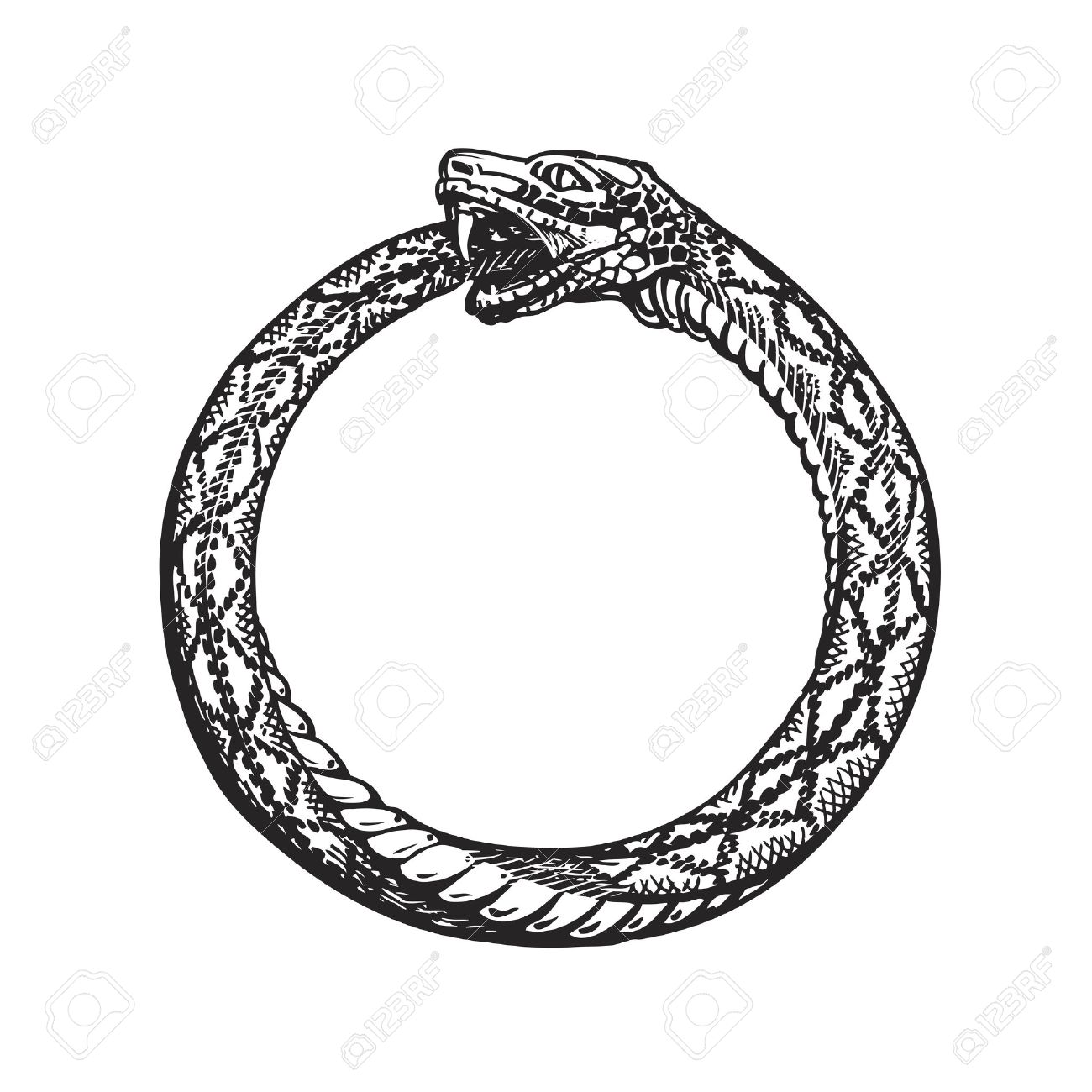 Comunismo Cristiano - Página 16 67209558-ouroboros-snake-eating-its-own-tail-eternity-or-infinity-symbol-isolated-on-white-background