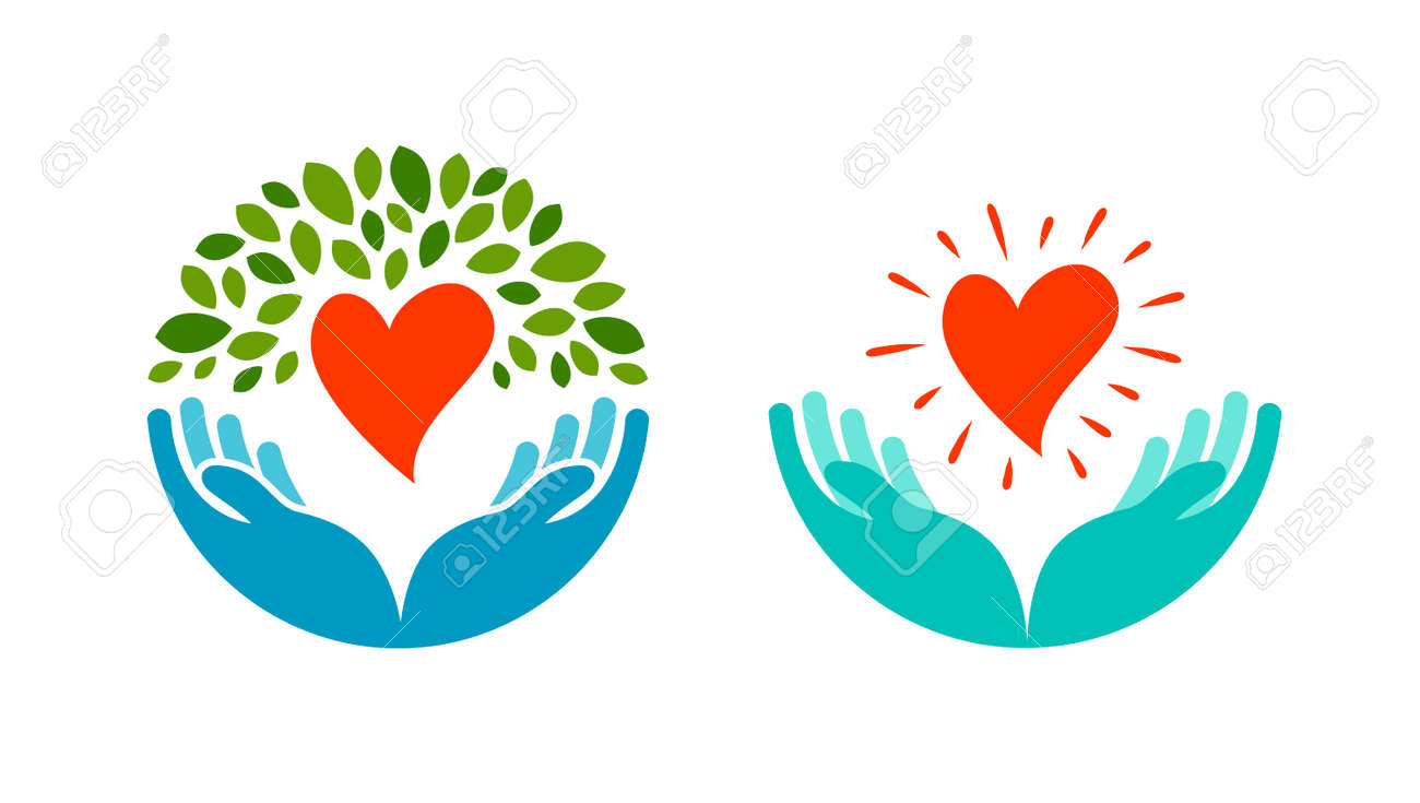 Love, ecology, environment icon. Health, medicine or oncology symbol isolated on white background - 68940478