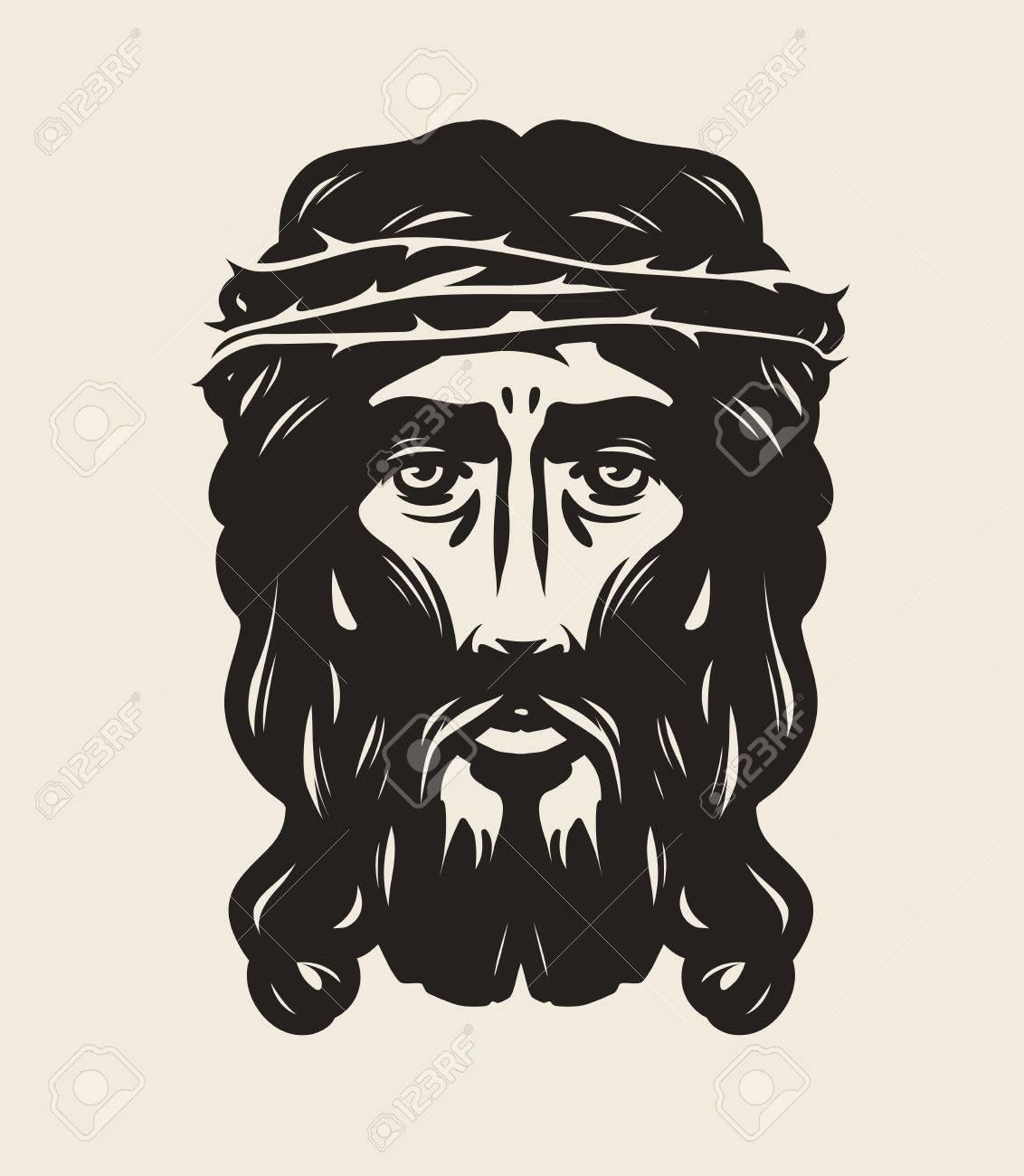 Jesus christ face god religion symbol art vector illustration jesus christ face god religion symbol art vector illustration stock vector 71027653 buycottarizona Image collections