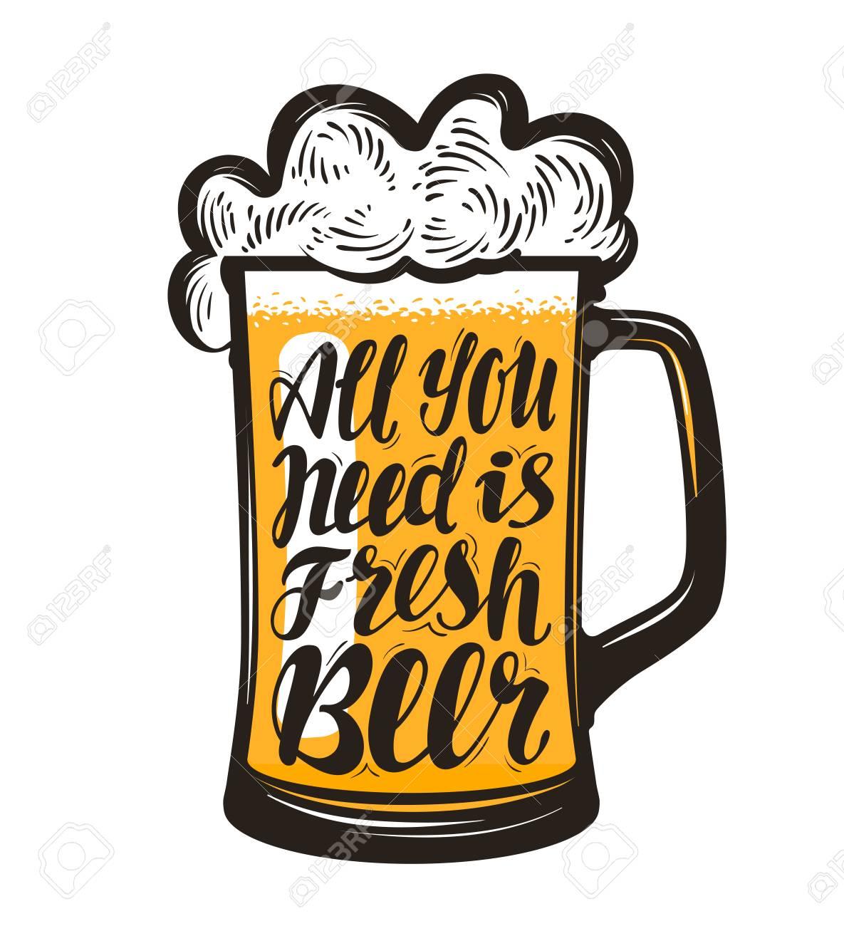 Pinta Boccale Di Birra Simbolo Del Birrificio Tutto Ciò Di Cui