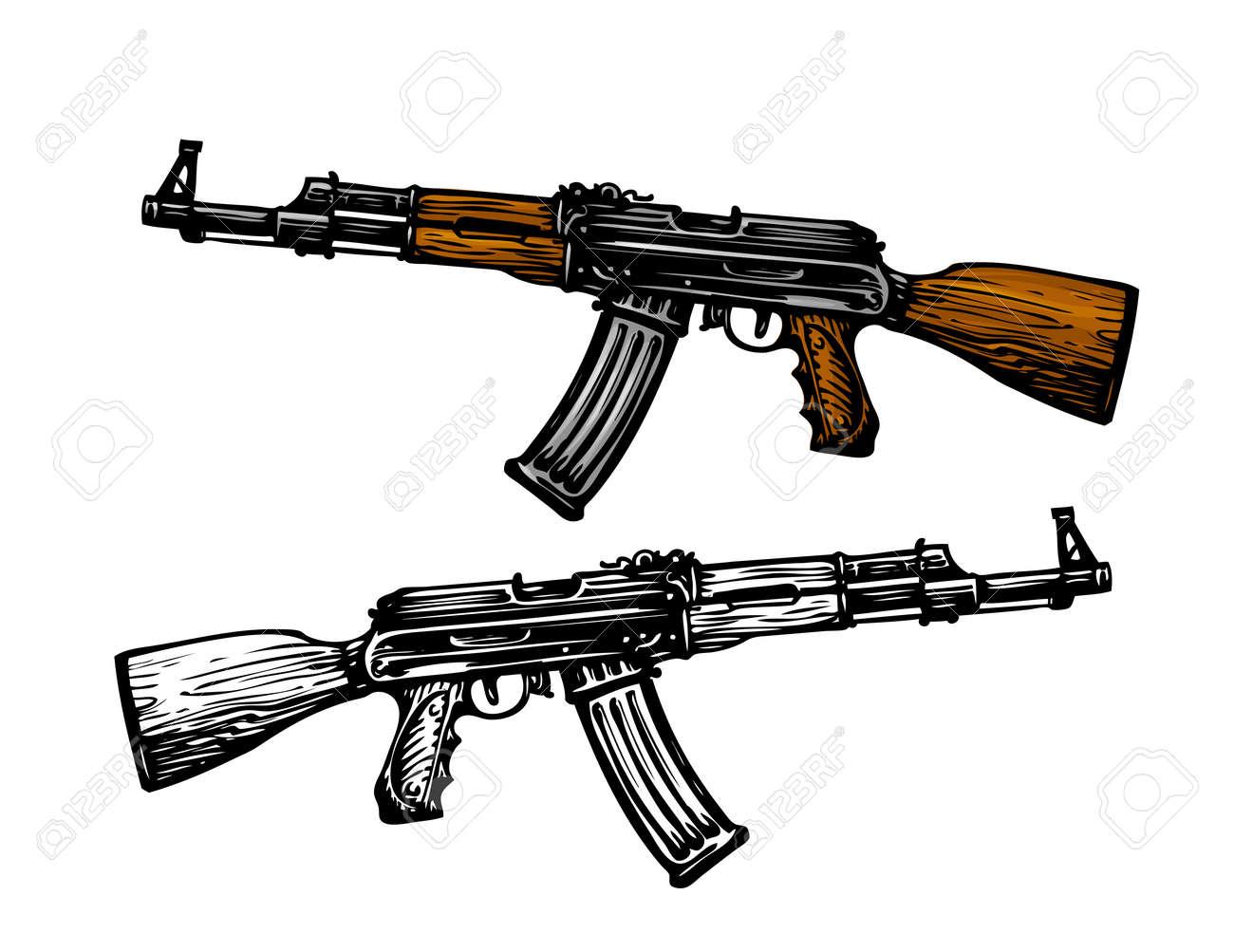 武器、兵器のシンボル。自動機 A...
