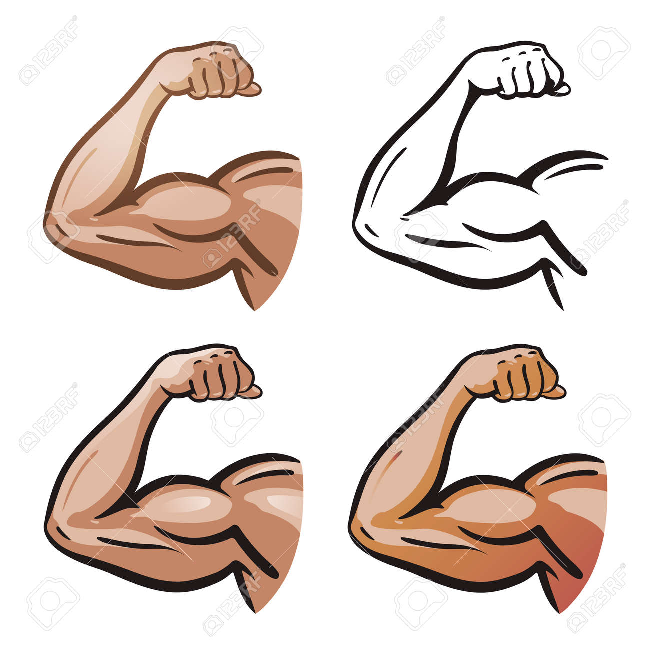 Strong Male Arm, Hand Muscles, Biceps Icon Or Symbol. Gym, Health ...