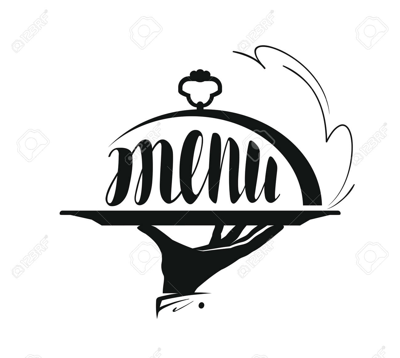 food service, catering logo. icon for design menu restaurant