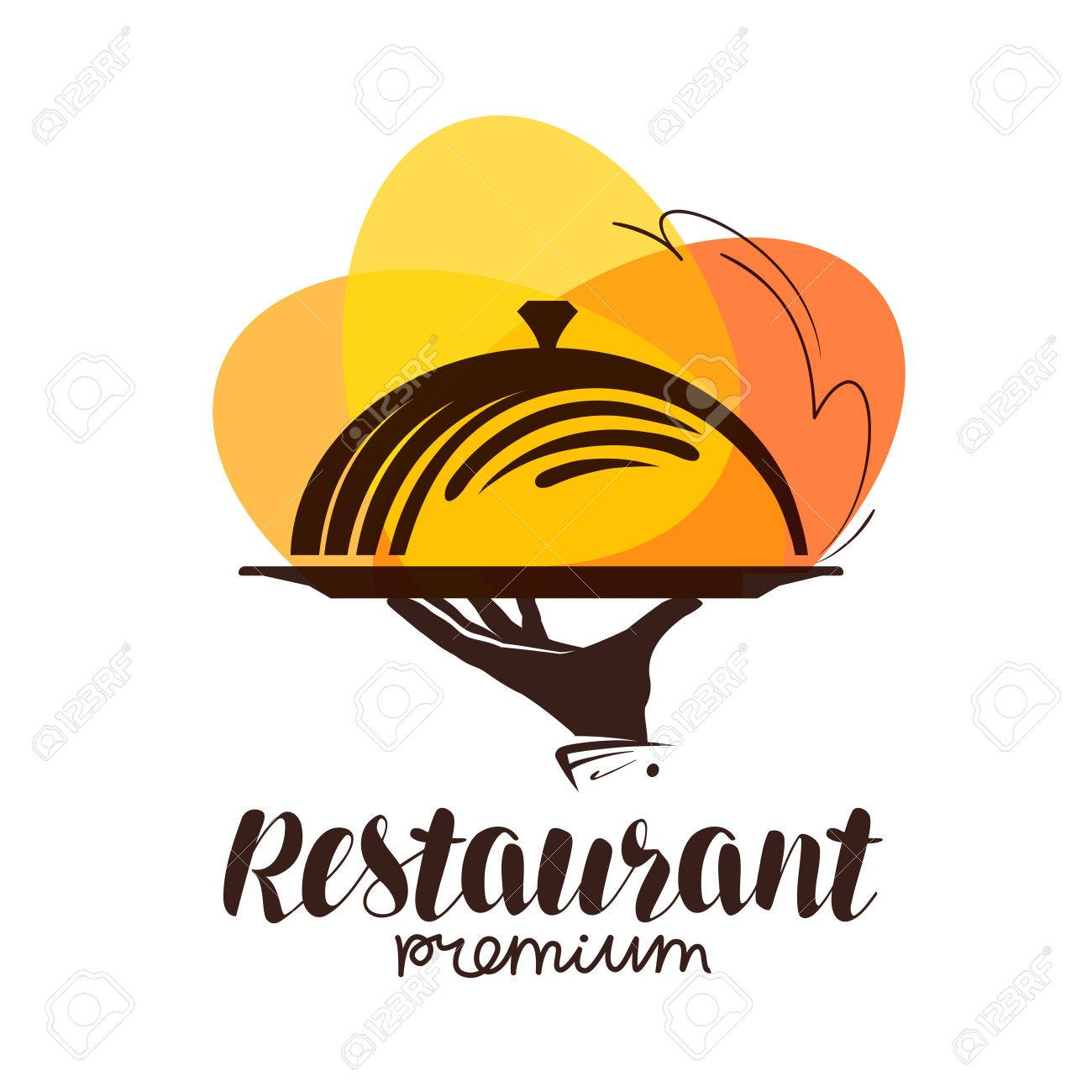 restaurant logo. icon or symbol for design menu eatery, canteen